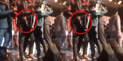 Stonebwoy handcuffed and arrested after pulling out a gun at VGMA