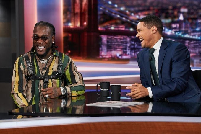 """Burna Boy on The Daily Show, """"Afro fusion is like pizza"""""""
